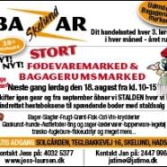 Bazar Skelund lørdag d. 18 august 2012 fra kl 10-15 på Solgården